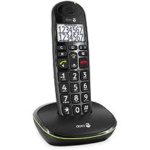 doro PhoneEasy 110 - Teléfono fijo digital (identificador de llamadas, pantalla LCD, inalámbrico), negro