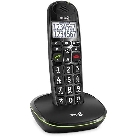 doro PhoneEasy 110 - Teléfono fijo digital (identificador de llamadas, pantalla LCD, inalámbrico),