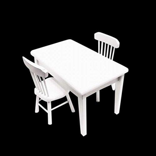 Preisvergleich Produktbild Generic Puppenhaus Möbel Esstisch und Stuhl aus Holz für 1:12 Dollhouse Dekoration