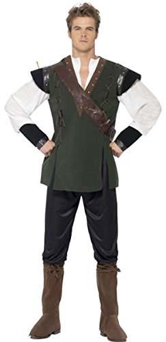 ONLYuniform Costume da Uomo Robin Hood Costume Travestimento Tales of Old England Green