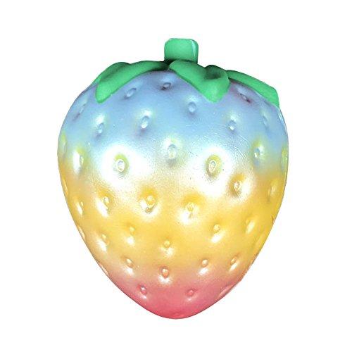 Bagger Diy Kostüm (Spielzeug, Frashing 1PC Regenbogen Erdbeere Squishy Superjumbo Duft langsames aufsteigendes Seltenes Spaß)