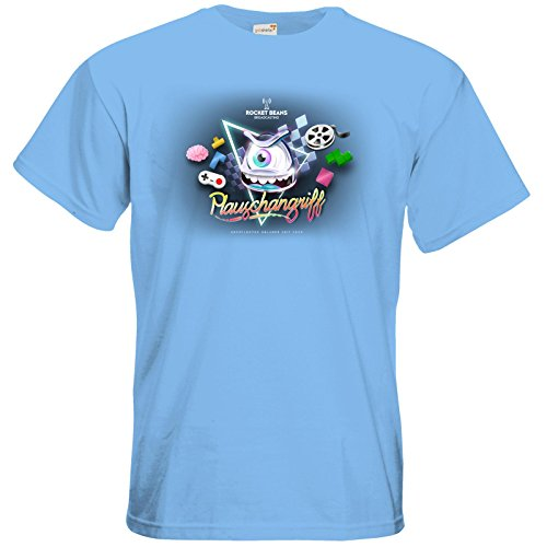 getshirts - Rocket Beans TV Official Merchandising - T-Shirt - Plauschangriff Sky Blue