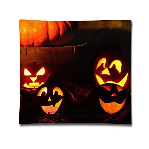 Moxicha Lighted Halloween Pumpkins-wallpaper-1920x1080 Cotton Throw Pillow Covers 18