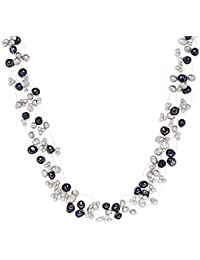 Valero Pearls - Collier de perles - Perles de culture d'eau douce - Argent sterling 925 - Bijoux de perles - 60200101