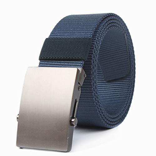 Cchao cintura regolabile tessuto in nylon moda ecologica facile traspirante singolo anello fibbia automatica adatto per gli adulti,blue,125cm
