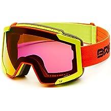 af6bc44dd0 Briko Lava FIS 7.6 Máscara esquí, Unisex Adulto, Matt Yellow/Orange, ...