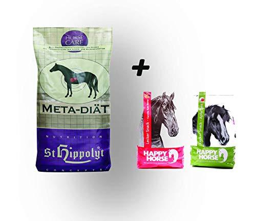St. Hippolyt Meta Diät 25 kg und wir schenken Ihrem Pferd 2 x 1 kg Happy Horse Lecker Snacks