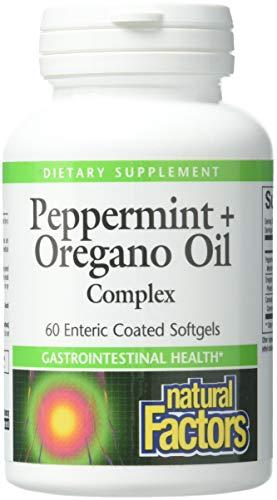 Natural Factors, Pfefferminze + Oregano Oil Complex, 60 Kapseln magensaftresistent