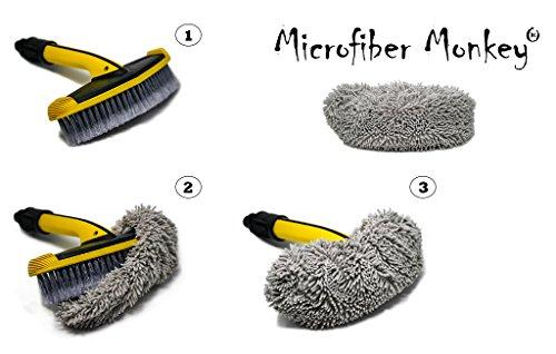 Mikrofaser Bürstenüberzug passend für KÄRCHER Hochdruck Reiniger SOFT Waschbürste quer 2.640-590 (Bürste nicht im Lieferumfang)