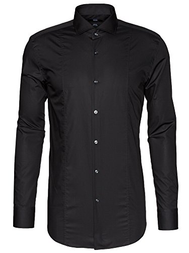 BOSS Slim-Fit Hemd Philip 50259984 Herren, Schwarz, 38