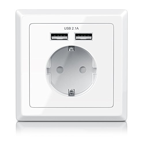 CSL - Enchufe de pared con 2 x USB | corriente de...