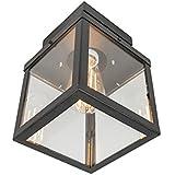 QAZQA rotterdam - Plafonnier Moderne - 1 lumière - L 160 mm - Noir - Moderne - Éclairage intérieur,Hall d'entrée