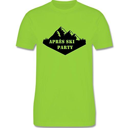 Après Ski - Apres Ski Party - Herren Premium T-Shirt Hellgrün