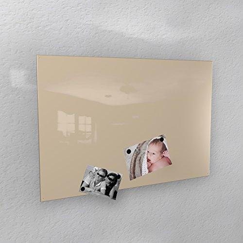 Preisvergleich Produktbild Magnetwand - hell-elfenbein glänzend * RAL 1015 * hochglanz - 3 verschiedene Größen - 40 x 60 cm ; 50 x 80 cm ; 60 x 90 cm - (50 x 80 cm)