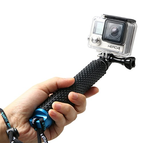 LENDOO Aluminium Einbeinstativ für GoPro , Erweiterbar Self Portrait Wasserdicht Selfie Stick Pole Handheld Monopod Pole für Go Pro HD Hero 5, Gopro Hero 4 Session Actionkameras