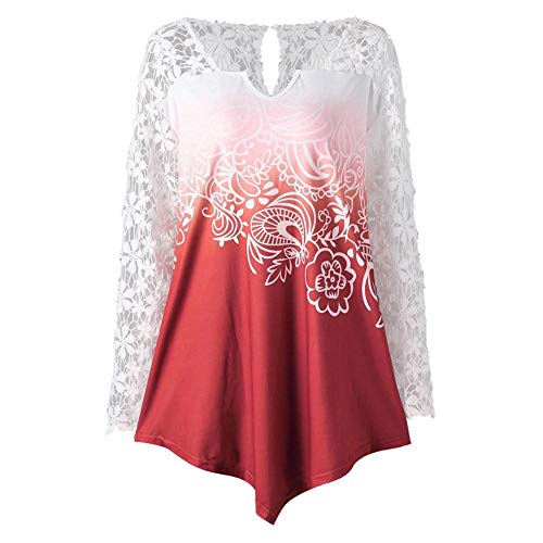 Bluelucon Damen Oberteile Elegant Langarm Rundhals Pullover Casual Langarmshirt Tops