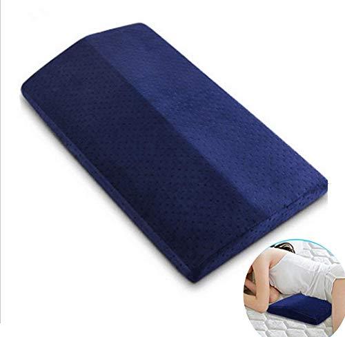 AMhuui Memory Cotton Protect The Waist, weiches Memory Foam-Kissen für Rückenschmerzen, Hüfte, Knie, Ischias, Schwangerschaftsstützkissen für Seiten- und Bettschläfer