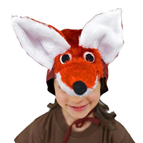 Kinder Mütze Fuchs Kopfbedeckung Tiermärchen Fox Fasching Karneval