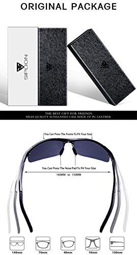 - 41jCxjI0nAL - SIPLION Herren Sport Polarisierte Treiber Glasses Sonnenbrillen Al-Mg Metallrahme Ultra leicht