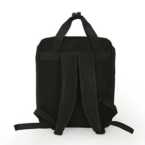 Lanspo Rucksack Handtasche Samt Reißverschluss Rucksack Schule Taschen Mädchen Umhängetasche Schwarz