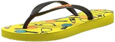 Havaianas Women's SLIM COOL Flip Flop Sandles Yellow, 8 UK