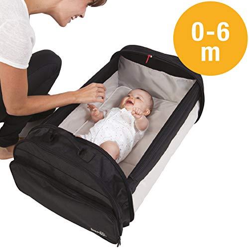 BabySun Lit de Voyage Bébé/Sac à Langer/Couffin Nomade Simple Bed, 0-6...