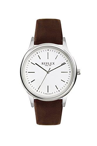 Reflex-Gents-Analogue-White-Dial-Brown-PU-Buckle-Strap-Smart-Watch-REF0011