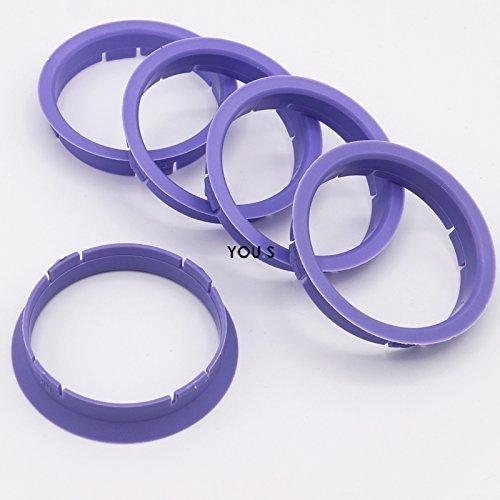 52,1 mm Conversion spigot rings for alloy wheels 4x Spigot Rings 57,1 mm
