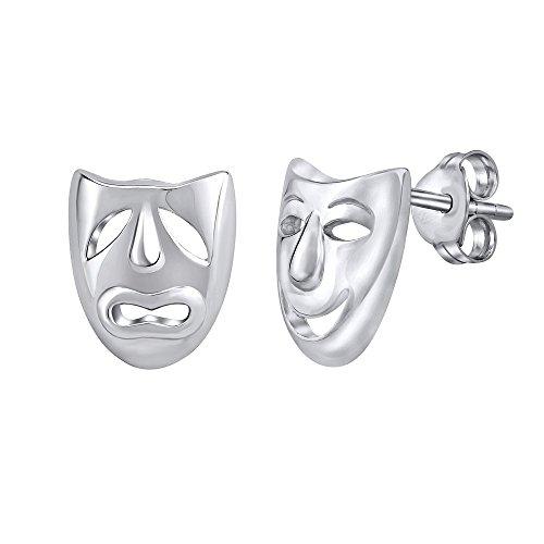 SILVEGO Pendientes máscaras teatro plata
