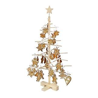 xmas3XS 45cm árbol de Navidad de Madera, Natural, 28.0x 28.0x 45.0cm