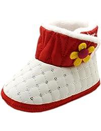 Tefamore Botas bebes de nieve de antideslizante de sole suave de moda invierno de calentar