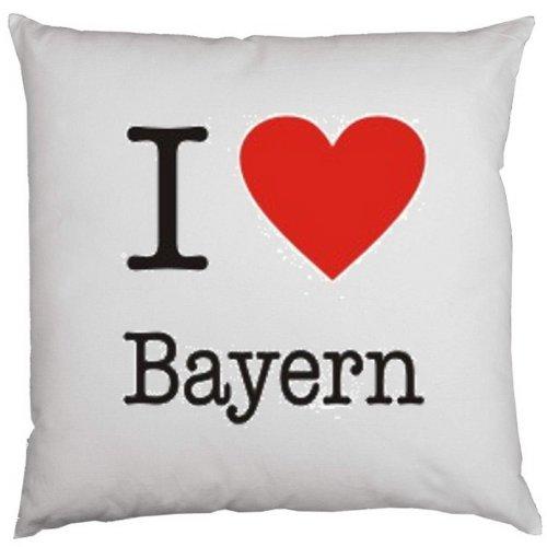 Kissen mit Füllung, Dekokissen, Couchkissen, Deko - I love Bayern