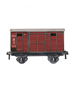Keranova keranova383 Escala 1: 87 (8,5 x 4,5 x 3 cm Clever Papel Ferrocarril Collection biaxial Covered Wagon 3D Puzzle (19 Piezas)