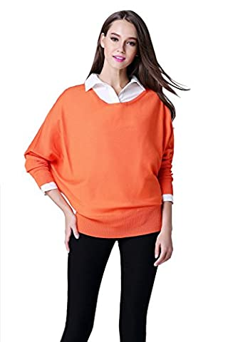 ICOCOPRO Autumn 2017 Women's Casual Long Batwing Sleeve Knit Pullover