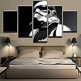 Dekorative Malerei 5 Stücke Kaiser Stormtrooper Moderne Home Decor Leinwandbild Kunst Hd Drucken Malerei Auf Leinwand Für Wohnzimmer Size3