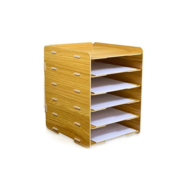 ZHAO ZHANQIANG Office supplies book desktop large a4 paper folder storage box multi-layer function wood classification shelf, (Color : WY109) ZHAO ZHANQIANG Enjoy the advantages of a neat workspace by organizing your documents, mail and desk accessories with our vintage office desktop organizer. A clear workspace can help improve concentration and let you get more done. The wooden, farmhouse organizer gives you a place to put your papers, pen and even your phone, letting you quickly clean and tidy your space for a new project while keeping everything you need close at hand. Just take it out of the box, place it on your desk, and get organized! Our farmhouse organizer will keep your stuff organized while giving your space a warm, rustic touch. 1
