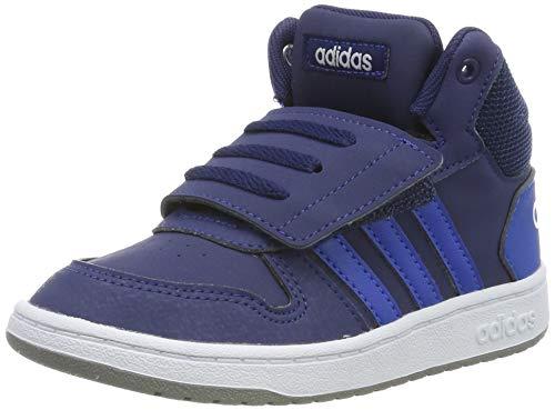 adidas Unisex Baby Hoops 2.0 Mid Sneaker, Blau (Dark Blue/Footwear White 0), 27 EU
