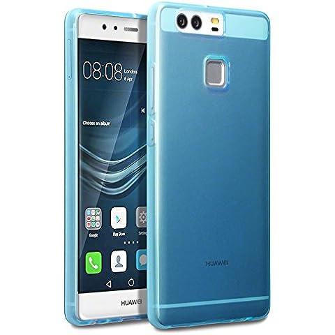 Huawei P9 Funda Protectiva de Silicona Gel TPU estrecha - Azul