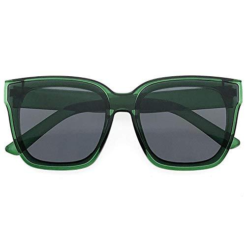 fuqiuwei Sonnenbrillen Einfache Weibliche Sonnenbrille Mit Quadratischen Gläsern Und Flachem Rundem Gesicht