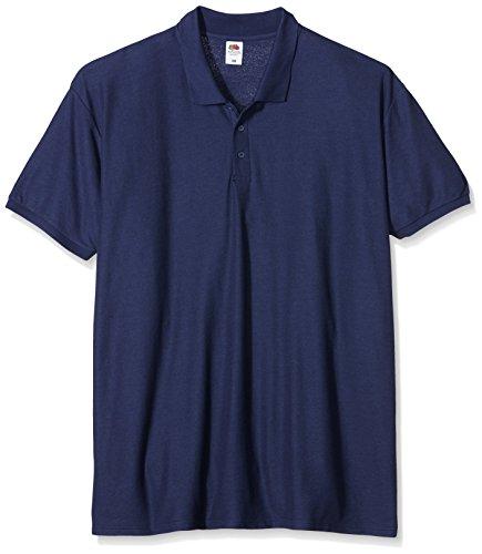 Fruit of the Loom Herren Poloshirt SS025M, Blau (Marineblau), XXXXXL