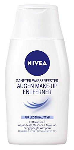 Nivea Visage Reinigung Sanfter Wasserfester Augen Make-Up Entferner, 4er Pack (4 x 125 ml) (Augen Make-up Entferner Sanfte)
