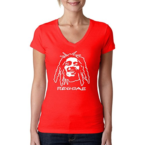 Im-Shirt - Reggae Dreadlocks cooles Fun Girlie Shirt - Rot L