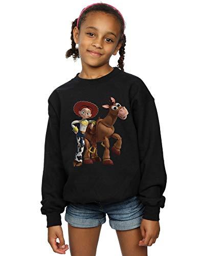 Disney Mädchen Toy Story 4 Jessie and Bullseye Sweatshirt Schwarz 12-13 Years
