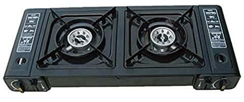 Double Hob Camping Stove Cooker Dual Burner