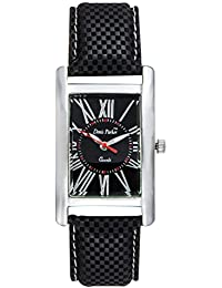 Fastrend Quartz Men's Watch - Genuine Leather Analog Watch For Men - Square And Black Wrist Watch