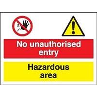 COSHH Sign No Unathorised entrée/de zone dangereuse (vinyle autocollant/400 x 300 mm