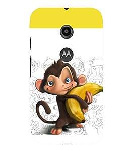 printtech Monkey Banana Back Case Cover for Motorola Moto E2::Motorola Moto E (2nd Gen)