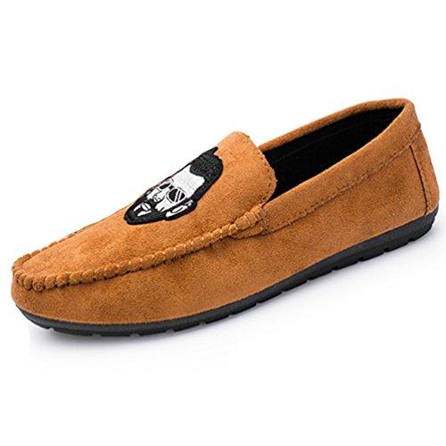 XIGUAFR Chaussure Casual Basse Homme Légère Chaussure de Conduite Comfortable