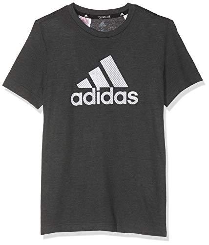 Tr-t-shirt Tee (adidas Jungen YB TR Prime Tee T-Shirt, Black/Grey six, 7-8A)