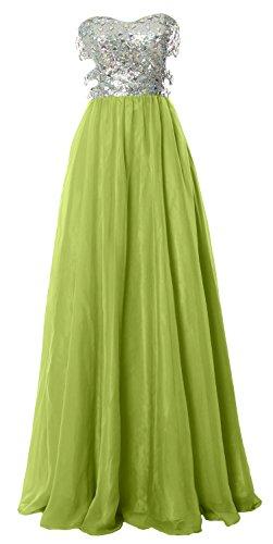 MACloth - Robe - Ajourée - Sans Manche - Femme Vert - Vert olive